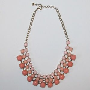 Pink and gold Francesca's statement necklace